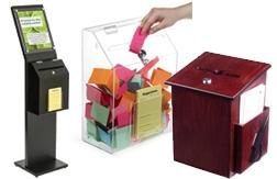Hộp góp ý và bỏ phiếu (Donation & Ballot Boxes)