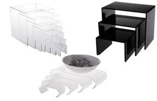 Giá kệ mica (Acrylic Risers)